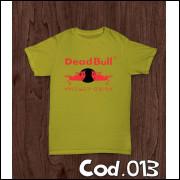 Camisa Dead Bull Engraçada Sátira (red Bull)