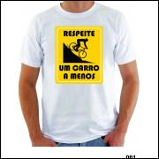 Camisa Respeite Um Carro A Menos Engraçada Sátira Downhill