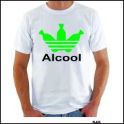 Camisa Alcool Engraçada Sátira Cachaça