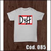 Camisa Duff Engraçada Sátira Os Simpsons