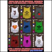 Kit 15 Croppeds Camiseta Feminina Academia Fitness Coloridos