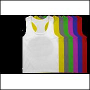Camiseta Regata Super Cavada Branca Academia Para Sublimação