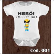 Body Infantil Herói do Futuro Wolverine Estampa Engraçada