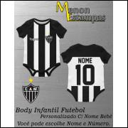Body Bebê Atlético Mineiro Futebol Infantil Personalizado C/ Nome