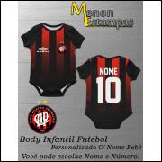 Body Bebê Atlético Paranaense Futebol Infantil Personalizado C/ Nome