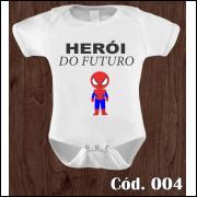 Body Infantil Herói do Futuro Homem-Aranha Estampa Engraçada