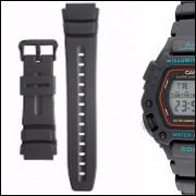 9a386f455cb Pulseira Compatível para Relógio Cassio Dw 290 de Silicone Preta
