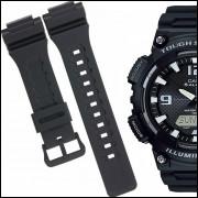 631d7aae06e Pulseira Compatível para Relógio Cassio Aq S810w de Silicone Preta