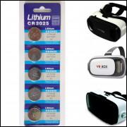 Cartela de Pilha Cr2025 Para Oculos 3D