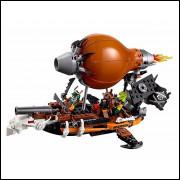 Brinquedo De Montar Balão Guerra Espada Barco 318pc Ninja