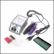 Lixa Elétrica Manicure Pedicure Profissional  30 Pcs Prego B