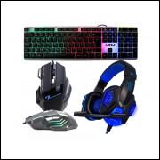 KIT GAMER 01 - Teclado, Mouse e HeadSet- APENAS 34,90