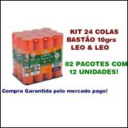 Kit 24 Unidades Cola Em Bastão 10g Cada Pacote Com 12