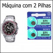 2 Pilha SR920SW 371 Para Relógio CasSio Edifice EFA 121