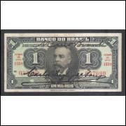 R193b - 1 Mil Réis, Banco do Brasil, 1923, com 2 assinaturas. Campos Salles