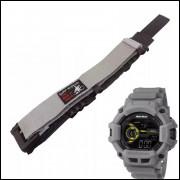427bc951a57 Pulseira em Nylon Para Relógio Mormaii MO1105AB Cinza 20mm