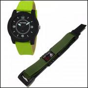 Pulseira em Nylon Para Relógio Mormaii MO203 20mm Verde