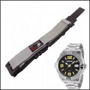 Pulseira em Nylon Para Relógio Mormaii MO2315AR 20mm Cinza