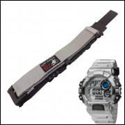 Pulseira em Nylon Para Relógio Mormaii MO13613 20mm Cinza