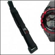 Pulseira em Nylon Para Relógio Mormaii MO932 20mm Preta