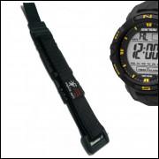 Pulseira em Nylon Para Relógio Mormaii MO5001 20mm Preta