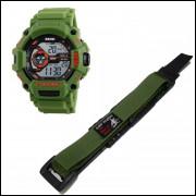 Pulseira em Nylon Para Relógio Skimei 1233 20mm Verde