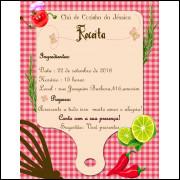 Convite Chá De Panela Simples Personalizado - 50 Unidades