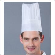 Chapeu Para Chefe De Cozinha Tnt Com Pregas frete grátis