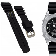 Pulseira Para Relógio Technos T205 Preta 24mm