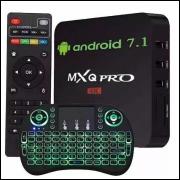 TV Box 4K MX9,ou MXQ Pro + teclado smart LED 2 RAM 16 GB Frete Grátis.