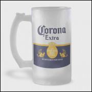 Caneca de Chopp - Corona - Vidro Jateado 475ml