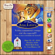 Convite Digital - A Bela e a Fera mod. 003