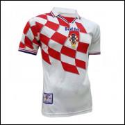 Camisa Croácia I -Suker #9- Copa do Mundo 1998 Lotto