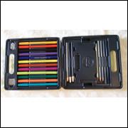 Conjunto de lápis e canetas Prang.- 275 -