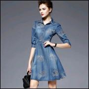 Vestido Jeans  Dress Elegante Importado Codlm445