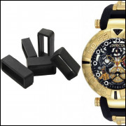5 Presilha Passador Para Relógio Invict 24518 Subaqua Preto