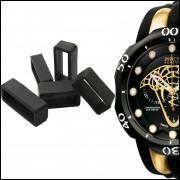 5 Presilha Passador Para Relógio Invict 0974 Preto