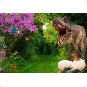 Painel Sublimado Dinossauro 3,0 Alt X 4,5 Larg Sem Emenda