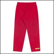 Calça legging Molecotton Bicho Bagunça Vermelha