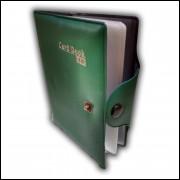 Carteira Porta Cartão e Documento com 8 Divisórias Verde