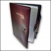 Carteira Porta Cartão e Documento com 8 Divisórias Vinho