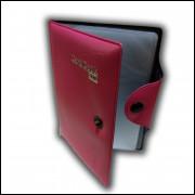 Carteira Porta Cartão e Documento com 8 Divisórias Rosa