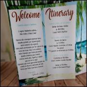 Cartão Agradecimento / Itinerário Casamento E Festas - 10 unidades