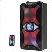 Caixa de Som Satellite AS-2604 10W Bluetooth/USB/SD com Iluminação LED - Preto