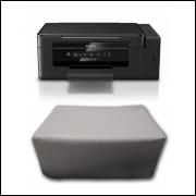Capa Pra Impressora Epson L395 Ecotank Branca Impermeável Proteção Uv