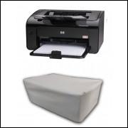 Capa Pra Impressora HP LASER P1102 Branca Impermeável Proteção Uv
