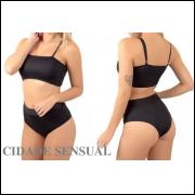Kit com 5 Biquínis Hots Pants Moda Praia Top Faixa Verão Feminino Liso frete grátis