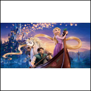 Painel Sublimado Enrolados Rapunzel 1,5 Alt X 3,0 Larg