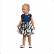 Vestido Infantil Colorittá Floral Marinho
