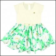Vestido Infantil Colorittá Floral Off White